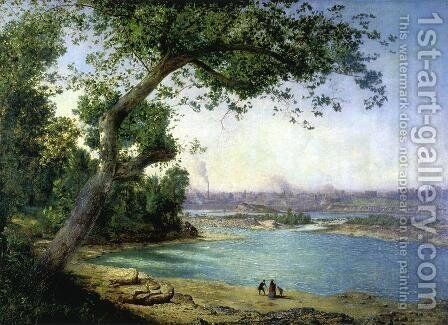 Falls of the Ohio and Louisville by Alexander Helwig Wyant - Reproduction Oil Painting