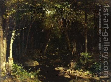 Woodland Stream by Alexander Helwig Wyant - Reproduction Oil Painting