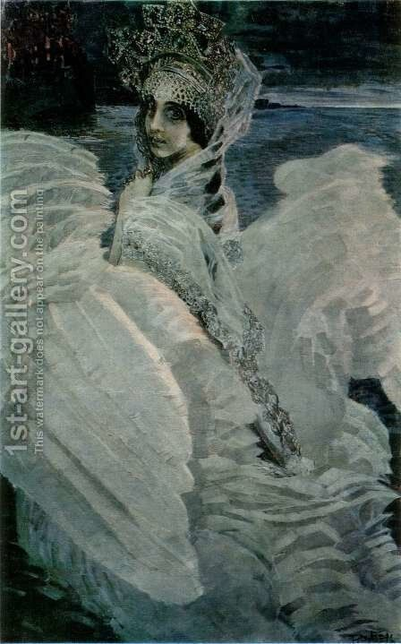 Swan-Princess by Mikhail Aleksandrovich Vrubel - Reproduction Oil Painting