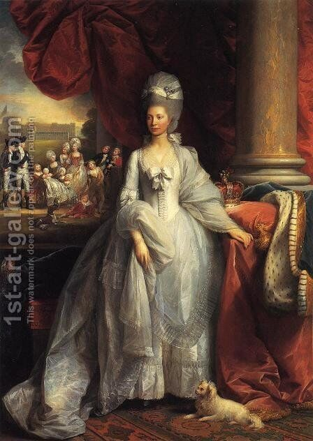 Queen Charlotte by Benjamin West - Reproduction Oil Painting