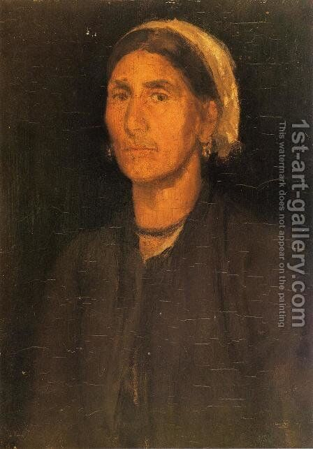 Head of a Peasant Woman by James Abbott McNeill Whistler - Reproduction Oil Painting