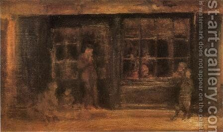 A Shop by James Abbott McNeill Whistler - Reproduction Oil Painting