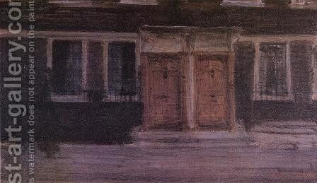 Chelsea Houses by James Abbott McNeill Whistler - Reproduction Oil Painting