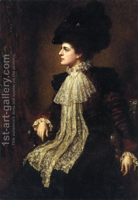 Ethel Eastman Johnson Conkling by Eastman Johnson - Reproduction Oil Painting