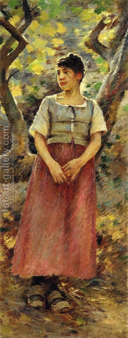 The Peasant Girl by Theodore Robinson - Reproduction Oil Painting