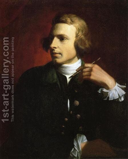 Charles Wilson Peale by Benjamin West - Reproduction Oil Painting