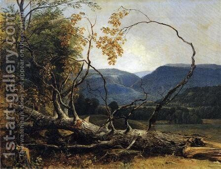 Study from Nature, Stratton Notch, Vermont by Asher Brown Durand - Reproduction Oil Painting