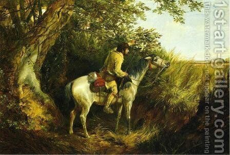 Trapper Looking Out by Arthur Fitzwilliam Tait - Reproduction Oil Painting