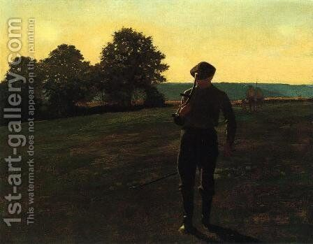 Man with a Sythe by Winslow Homer - Reproduction Oil Painting