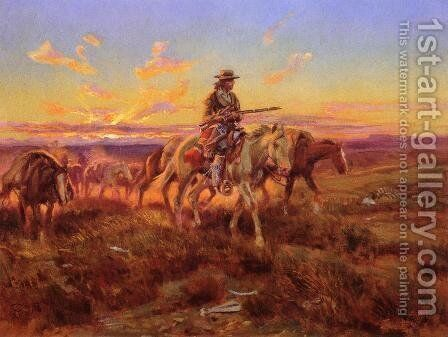 The Free Trader by Charles Marion Russell - Reproduction Oil Painting