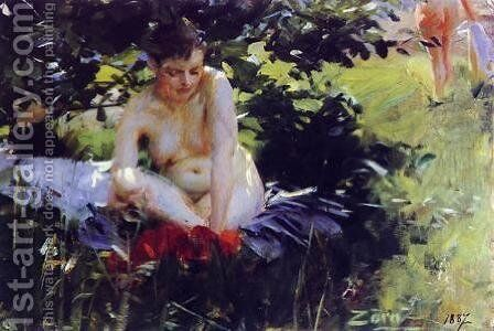 Red Stockings by Anders Zorn - Reproduction Oil Painting