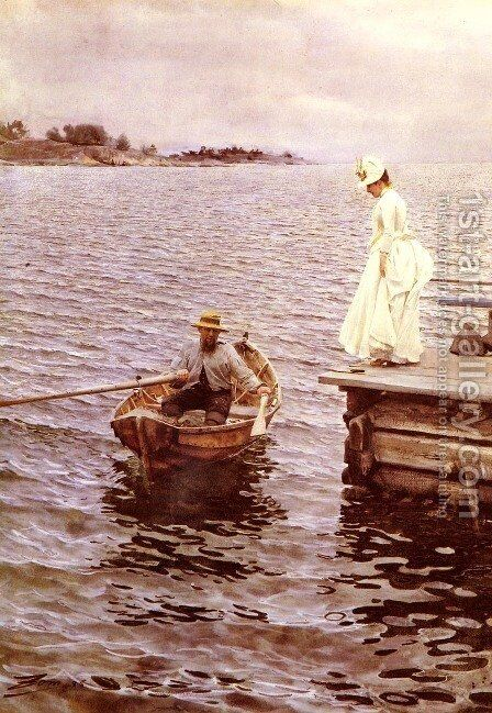 Summer Fun by Anders Zorn - Reproduction Oil Painting