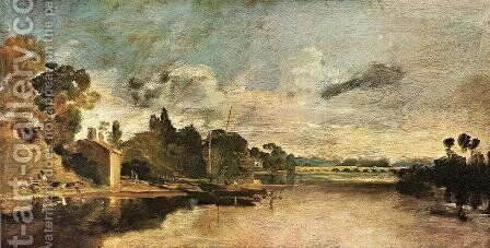 The Thames near Walton Bridges by Turner - Reproduction Oil Painting