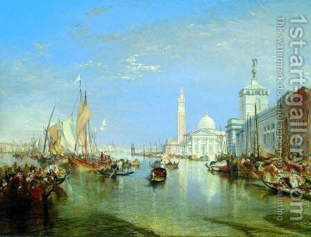 Venice: The Dogana and San Giorgio Maggiore by Turner - Reproduction Oil Painting