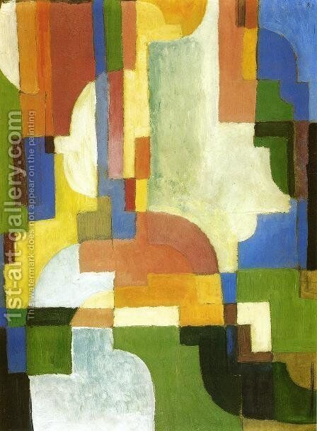 Colored Forms I by August Macke - Reproduction Oil Painting