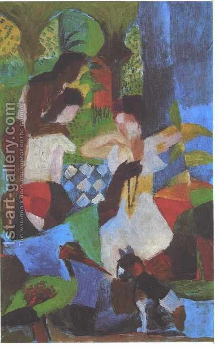 Turkish Jewel Trader by August Macke - Reproduction Oil Painting