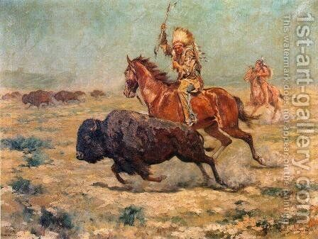 Doomed by Charles Schreyvogel - Reproduction Oil Painting