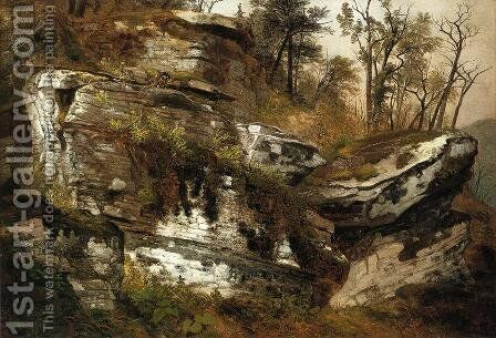 Rocky Cliff by Asher Brown Durand - Reproduction Oil Painting