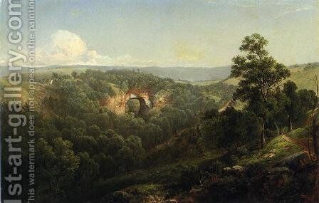 Natural Bridge, Virginia by David Johnson - Reproduction Oil Painting