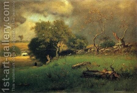 The Storm II by George Inness - Reproduction Oil Painting