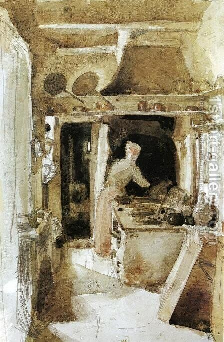The Kitchen 2 by James Abbott McNeill Whistler - Reproduction Oil Painting