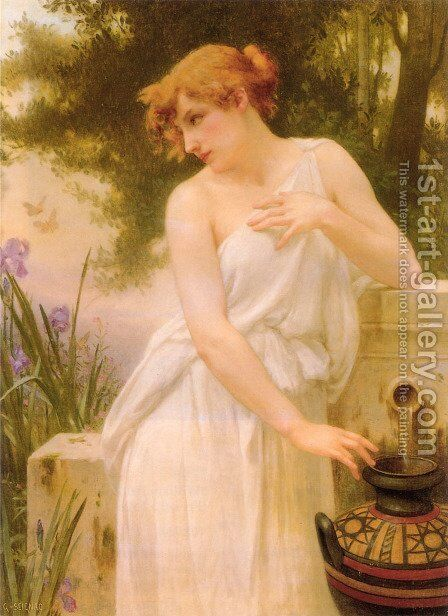 Beauty at the Well I by Guillaume Seignac - Reproduction Oil Painting