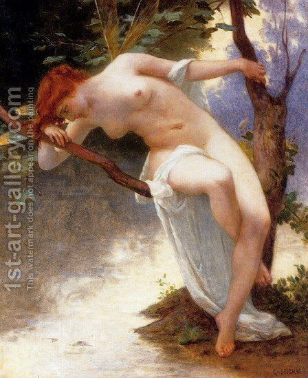 La Libellule I by Guillaume Seignac - Reproduction Oil Painting