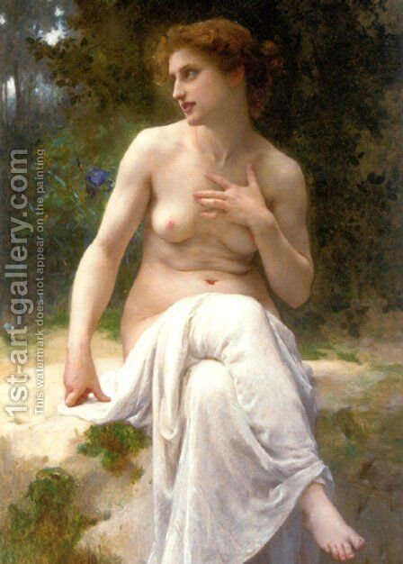 Nymphe I by Guillaume Seignac - Reproduction Oil Painting