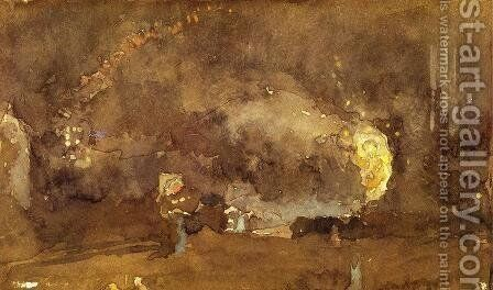 The Fire Wheel by James Abbott McNeill Whistler - Reproduction Oil Painting