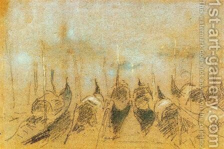 Nocturne: San Giorgio by James Abbott McNeill Whistler - Reproduction Oil Painting
