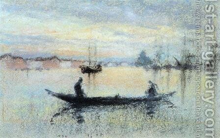 Note in Flesh Colour: The Guidecca by James Abbott McNeill Whistler - Reproduction Oil Painting