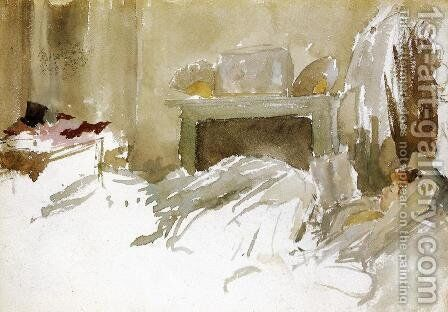Resting in Bed by James Abbott McNeill Whistler - Reproduction Oil Painting