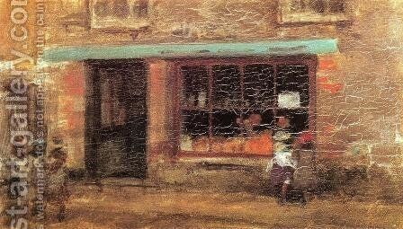 Blue and Orange: The Sweet Shop by James Abbott McNeill Whistler - Reproduction Oil Painting