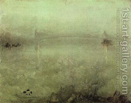 Nocturne: Silver and Opal by James Abbott McNeill Whistler - Reproduction Oil Painting