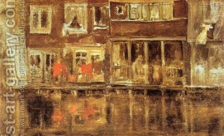 The Canal, Amsterdam by James Abbott McNeill Whistler - Reproduction Oil Painting