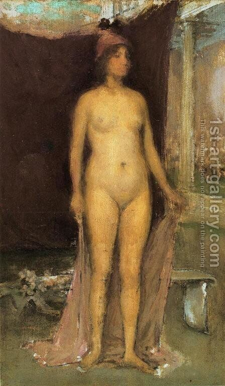 Purple and Gold: Phryne the Superb! - Builder of Temples by James Abbott McNeill Whistler - Reproduction Oil Painting