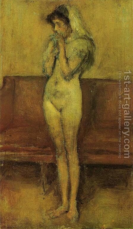 Rose and Brown: La Cigale by James Abbott McNeill Whistler - Reproduction Oil Painting