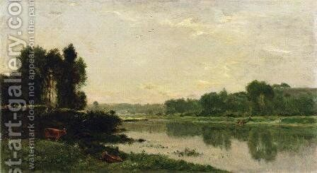 The Banks of the River II by Charles-Francois Daubigny - Reproduction Oil Painting