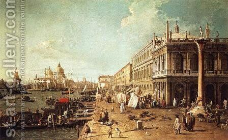 Molo with the Library by (Giovanni Antonio Canal) Canaletto - Reproduction Oil Painting