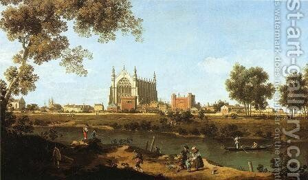 The Chapel of Eton College by (Giovanni Antonio Canal) Canaletto - Reproduction Oil Painting