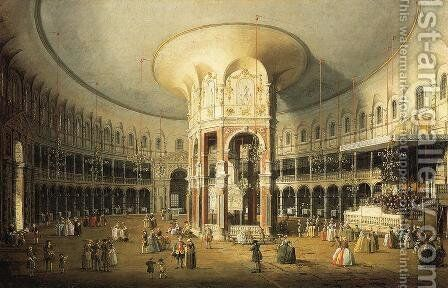The Rotunda of Ranelagh House by (Giovanni Antonio Canal) Canaletto - Reproduction Oil Painting