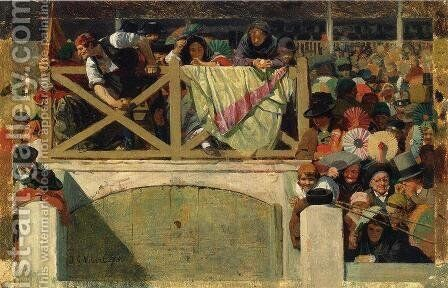 At the Corrida by Jehan Georges Vibert - Reproduction Oil Painting