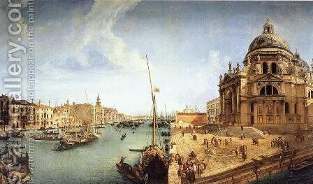Veduta of the Basilica della Salute by Michele Marieschi - Reproduction Oil Painting