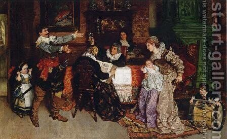 The Triumphal Return by Carl Ludwig Friedrich Becker - Reproduction Oil Painting