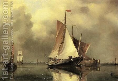 A Calm Day on the Scheldt by Edward William Cooke - Reproduction Oil Painting