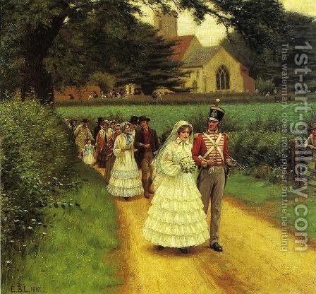 The Wedding March by Edmund Blair Blair Leighton - Reproduction Oil Painting