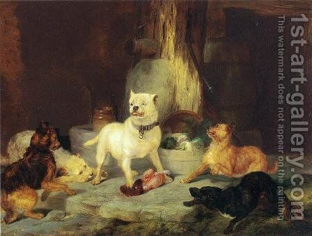The King of the Castle by Sir Edwin Henry Landseer - Reproduction Oil Painting