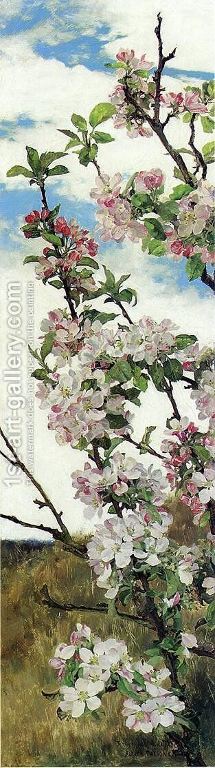 Apple Blossoms by Alfred Parsons - Reproduction Oil Painting