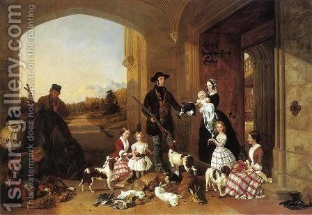 The Day's Bag by Jacob Thompson - Reproduction Oil Painting