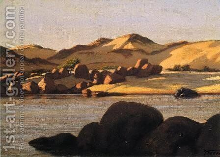 Egyptian Nile by Elihu Vedder - Reproduction Oil Painting